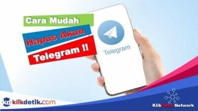 Dua Cara Menghapus Akun Telegram